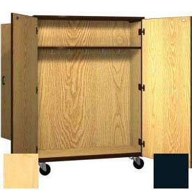"Mobile Wood Double-Faced Combo Cabinet,Solid Door, 48""W x 28-1/4""D x 66""H, Maple/Black"