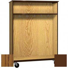 """Mobile Wood Double-Faced Combo Cabinet, Open Front, 48""""W x 28-1/4""""D x 66""""H, Dixie Oak/Brown"""