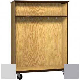"Mobile Wood Double-Faced Combo Cabinet, Open Front, 48""W x 28-1/4""D x 66""H, Folkstone/Grey"