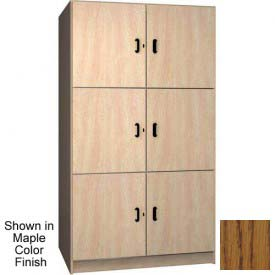 Ironwood 3 Compartment Solid Door Wood Storage Cabinet, Dixie Oak Color