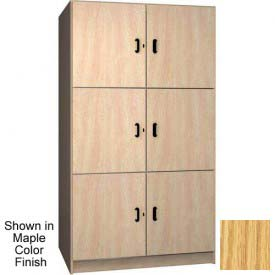 Ironwood 3 Compartment Solid Door Wood Storage Cabinet, Natural Oak Color