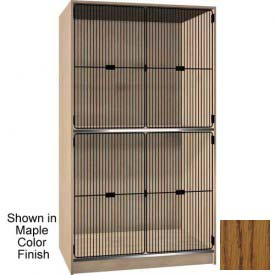 Ironwood 2 Compartment Black Grill Door Wood Storage Cabinet, Dixie Oak Color