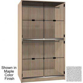 Ironwood 2 Compart. Wardrobe Cabinet, Grey Grill Door, Cactus Star Color