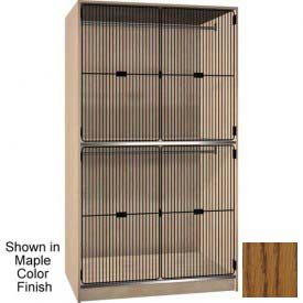 Ironwood 2 Compart. Wardrobe Cabinet, Black Grill Door, Dixie Oak Color