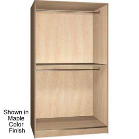 Ironwood 2 Compartment Wardrobe Storage Open Cabinet, Maple Color