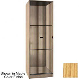 Ironwood 1 Compartment Black Grill Door Storage Locker, Natural Oak Color