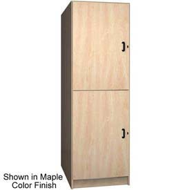 "Ironwood 2 Compartment Solid Door Storage 40"" D Locker, Maple Color"