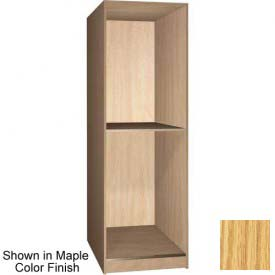 "Ironwood 2 Compartment Open Storage 40"" D Locker, Natural Oak Color"