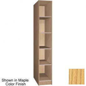Ironwood 5 Compartment Open Storage Locker, Natural Oak Color