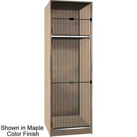 Ironwood 1/3 Upper, 2/3 Lower Compartment Black Grill Door Locker, Maple