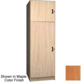 Ironwood 1/3 Upper, 2/3 Lower Compartment Solid Door Locker, Oiled Cherry