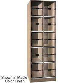 "Ironwood 10 Compartment Black Grill Door 30"" D Locker, Maple Color"