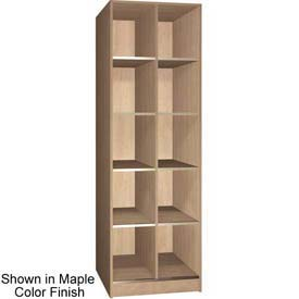 "Ironwood 10 Compartment Open Storage 30"" D Locker, Maple Color"