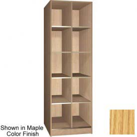 "Ironwood 10 Compartment Open Storage 30"" D Locker, Natural Oak Color"