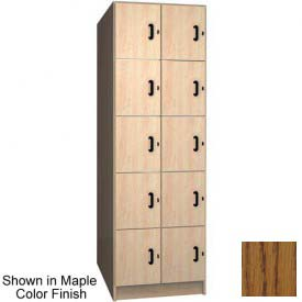 Ironwood 10 Compartment Solid Door Storage Locker, Dixie Oak Color