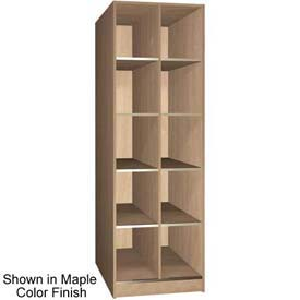 "Ironwood 10 Compartment Open Storage 40"" D Locker, Maple Color"