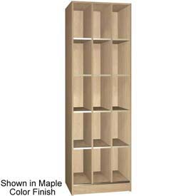 "Ironwood 15 Compartment Open Storage 20"" D Locker, Maple Color"