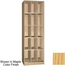 "Ironwood 15 Compartment Open Storage 20"" D Locker, Natural Oak Color"