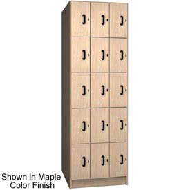 Ironwood 15 Compartment Solid Door Storage Locker, Maple Color
