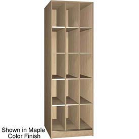 "Ironwood 15 Compartment Open Storage 30"" D Locker, Maple Color"