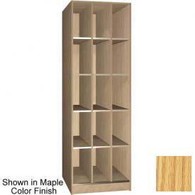 "Ironwood 15 Compartment Open Storage 30"" D Locker, Natural Oak Color"