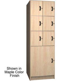 "Ironwood 6 Upper, 1 Lower Compartment Solid Door 30"" D Locker, Maple"