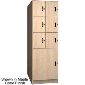 Ironwood 6 Upper, 1 Lower Compartment Solid Door Locker, Maple