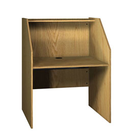 "Study Carrel Base - 37-3/8""W x 30""D x 47-7/8""H Natural Oak"