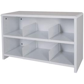 "Desk Top Organizer 29""W 2-Shelves - 29""W x 12""D x 18""H Gray"
