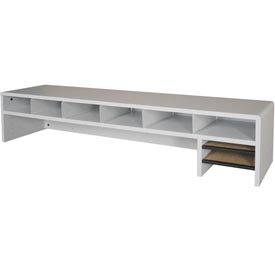 "Desk Top Organizer Low Profile - 58""W x 12""D x 12""H Gray"