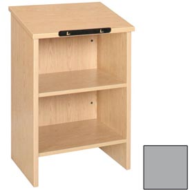 """Buy Dictionary Stand 23-3/8""""W x 16""""D x 35-1/8""""H Gray"""