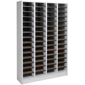 "Literature Organizer 60 Pocket - 40""W x 12-1/8""D x 60-1/2""H Gray"
