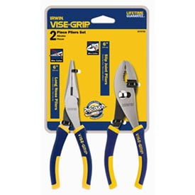 "Click here to buy 2 Pc. Traditional Pliers Set-6"" Slip Joint & 6"" Long Nose."