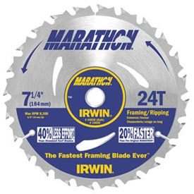 "Portable Corded Circular Saw Blade-6-1/2""X20t Framing/Ripping, Univ. Arbor-Bulk - Pkg Qty 10"