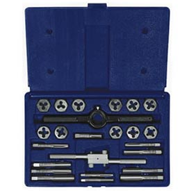 24 Pc. Fractional Tap & Hex Die Set by