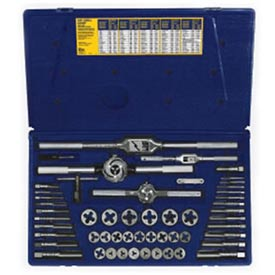 53 Pc. Machine Screw/Fractional Tap & Hex Die Set by