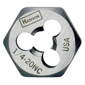 "Re-threading Hex Die-1""-8 NC, HCS Left Hand Die-Bulk"