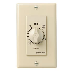 Intermatic FD15MC 15 Minute 125-277V SPST Decorator Series Spring Wound Timer, Ivory