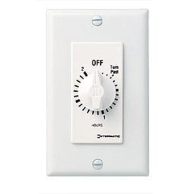 Intermatic FD2HW 2 Hour 125-277V SPST Decorator Series Spring Wound Timer, White