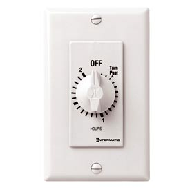 Intermatic FD32HW 2 Hour 125-277V SPDT Decorator Series Spring Wound Timer, White