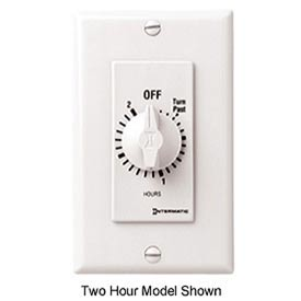 Intermatic FD34HW 4 Hour 125-277V SPDT Decorator Series Spring Wound Timer, White