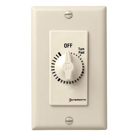 Intermatic FD430M 30 Minute 125-277V DPST Decorator Series Spring Wound Timer, Ivory