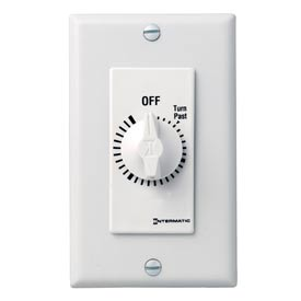 Intermatic FD430MW 30 Minute 125-277V DPST Decorator Series Spring Wound Timer, White