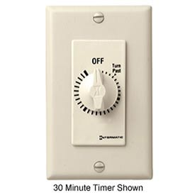 Intermatic FD460M 60 Minute 125-277V DPST Decorator Series Spring Wound Timer, Ivory
