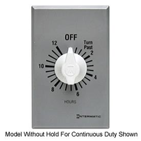 Intermatic FF12HHC 12 Hour 125-277V SPST Commercial Series Timer w/Hold For Continuous Duty