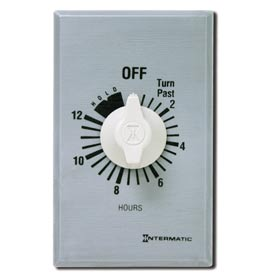 Intermatic FF312HH 12 Hour 125-277V SPDT Commercial Series Timer w/Hold For Continuous Duty