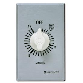 Intermatic FF315M 15 Minute 127-277V SPDT Commercial Series Timer w/Metal Single Gang Plate