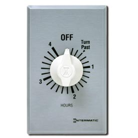 Intermatic FF34H 4 Hour 125-277V SPDT Commercial Series Spring Wound Timer