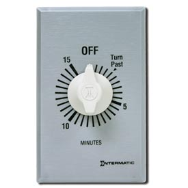 Intermatic FF360M 60 Minute 125-277V SPDT Commercial Series Timer w/Metal Single Gang Plate