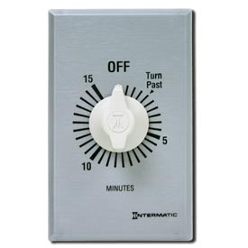 Intermatic FF415M 15 Minute 125-277V DPST Commercial Series Spring Wound Timer